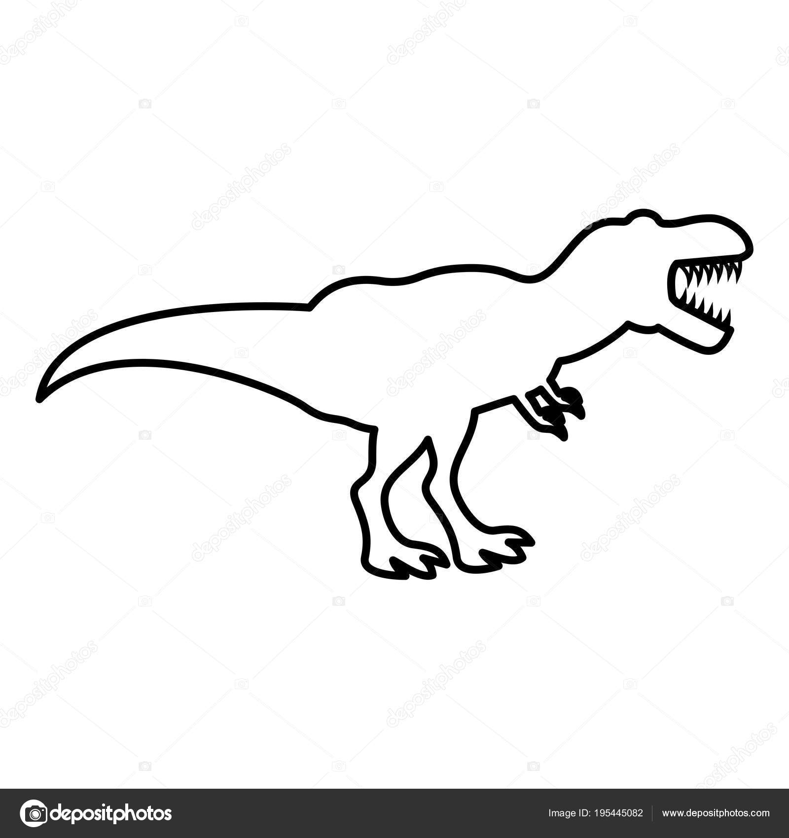t rex silhouette vector at getdrawings com