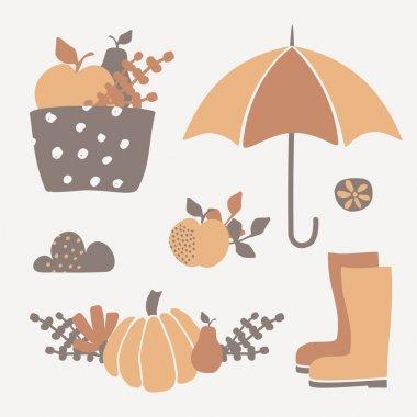 Autumn Design Elements set