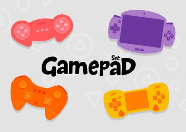 Gamepad Console Controllers Icon Set