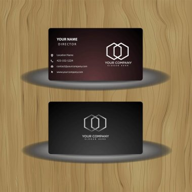 modern and creative business card - logo design vector template