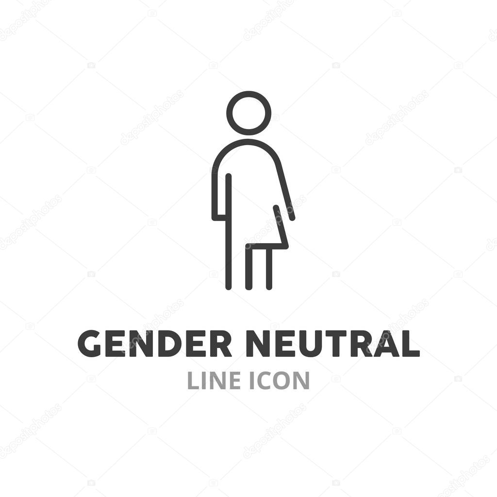 gender neutral symbol line icon vector illustration symbol elements for web design premium vector in adobe illustrator ai ai format encapsulated postscript eps eps format gender neutral symbol line icon vector
