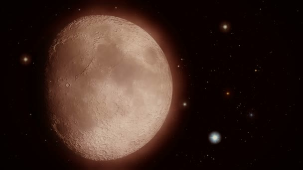 Vértes Hold körül villódzó csillagok