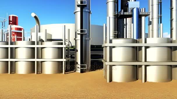 Anlagen der Öl- und Gasindustrie in Animation