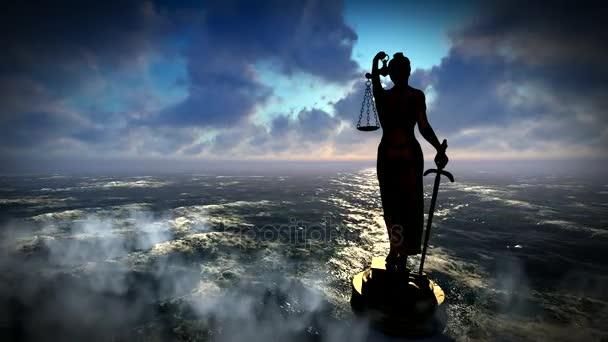 Socha spravedlnosti, právu koncept, Temida - Themis