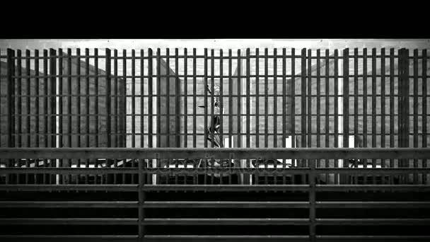 Vězení, barů a předsíně 3d vykreslování