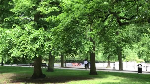 szabadidő ideje a nyilvános parkban Lengyelországban, city Wroclaw