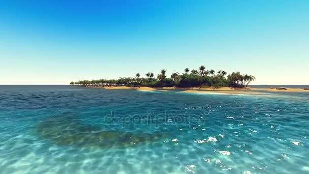 Dlaně na tropické pláži 3d vykreslování