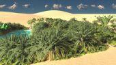 Nádherný pohled na Sahary poušť na západu slunce 3d vykreslování