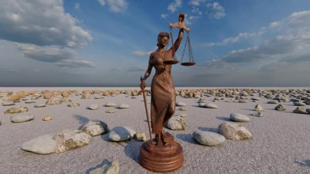 Themis with scale and sword