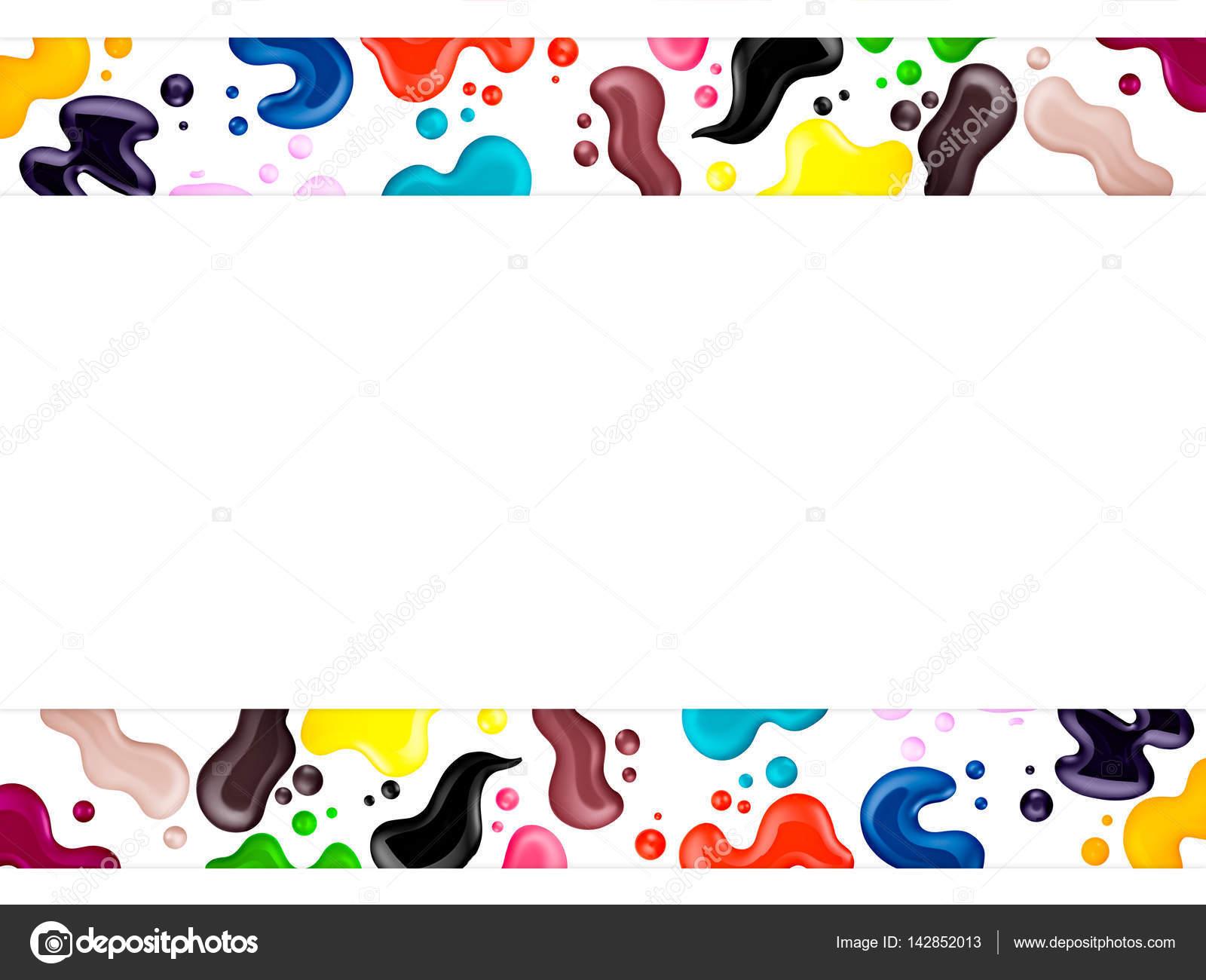 color esmalte de uñas, cepillo, muestra, marco de texto — Fotos de ...