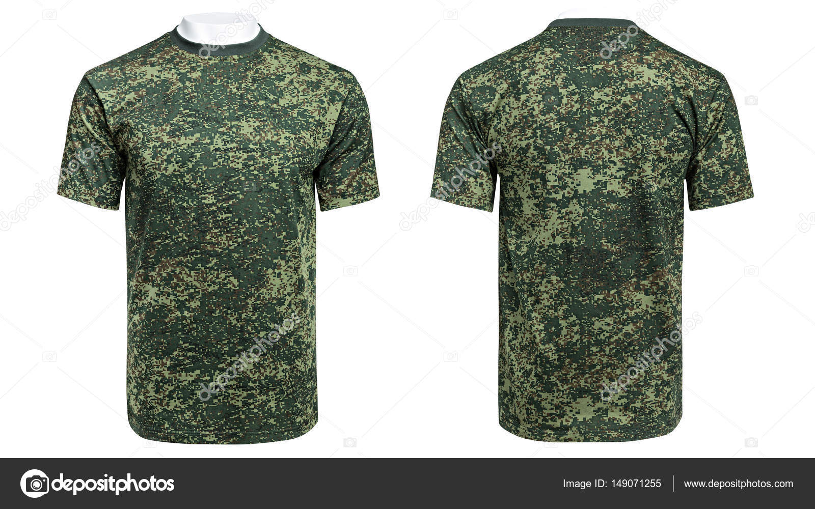 T Shirt Overhemd.Etalagepop In Militaire T Shirt Camouflage Overhemd Stockfoto
