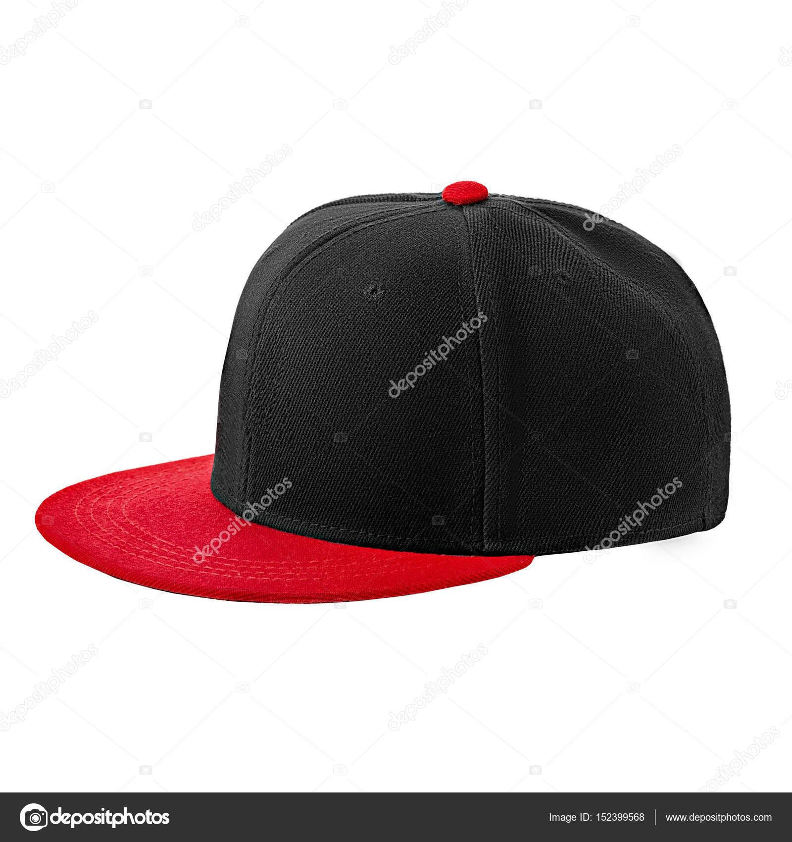 a81659ae Baseball cap black, on isolated white background — Stock Photo ...
