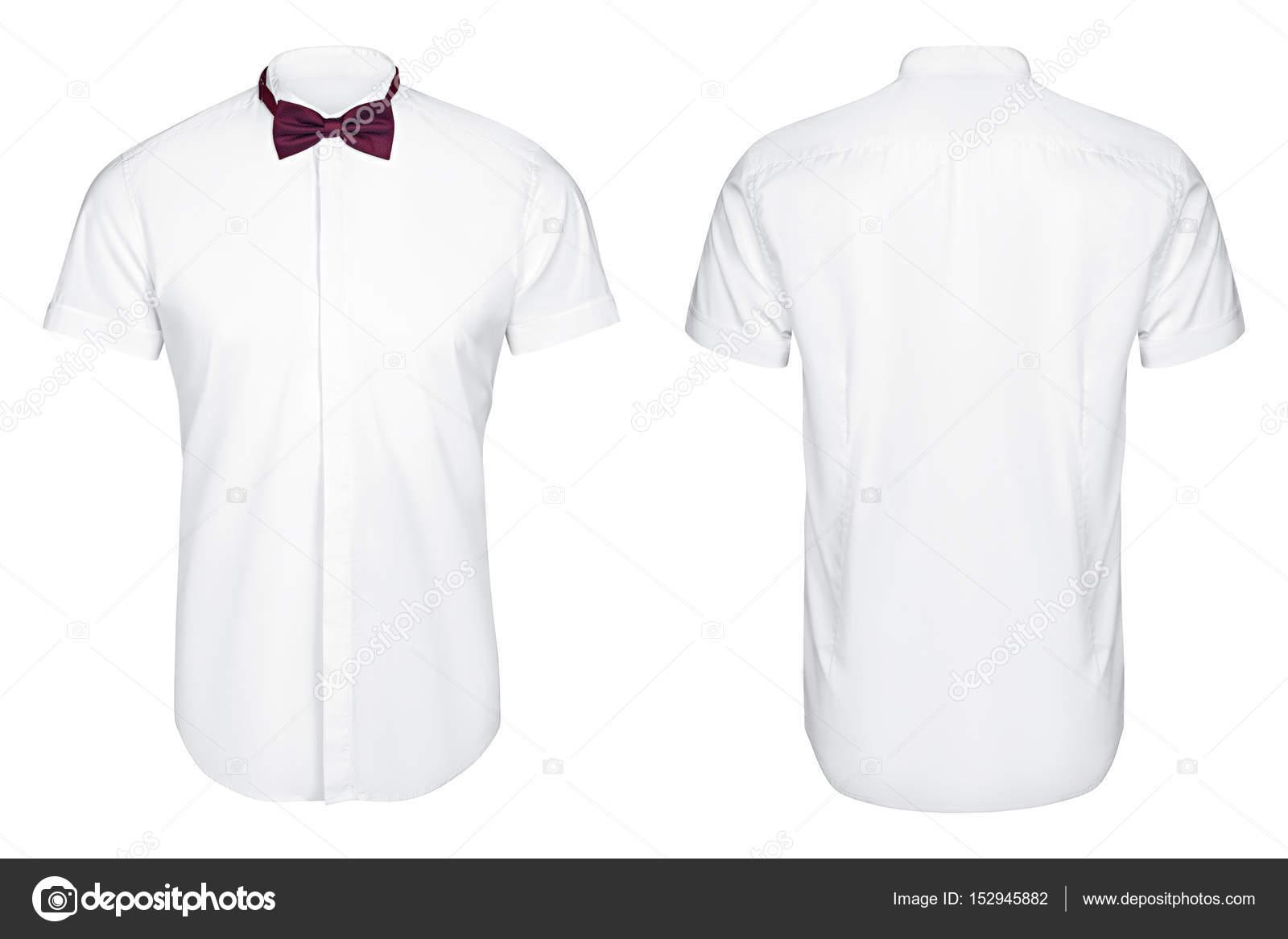 best website a3092 b0c30 Weißes Hemd Kurzarm und Butterfly, weißer Hintergrund ...