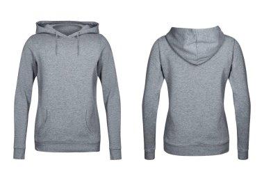 gray hoodie, sweatshirt mockup, white background