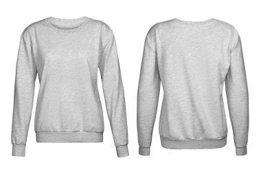 Gray sweater, mockup, white background