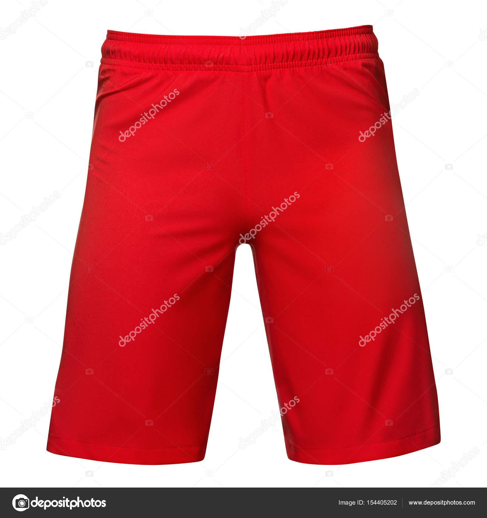 9b9abc5ea8 Rojo de deporte para hombre pantalones cortos, aislados sobre fondo blanco  - imágenes: calzones rojos — Foto de Ra33