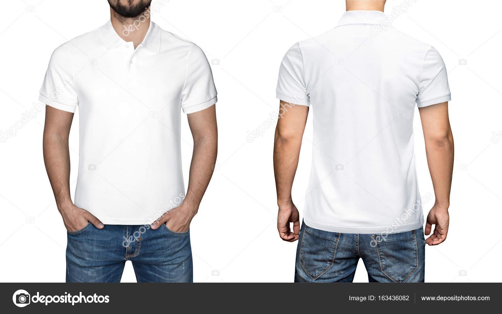 7e53d1af2 Los hombres en camisa de polo blanca en blanco