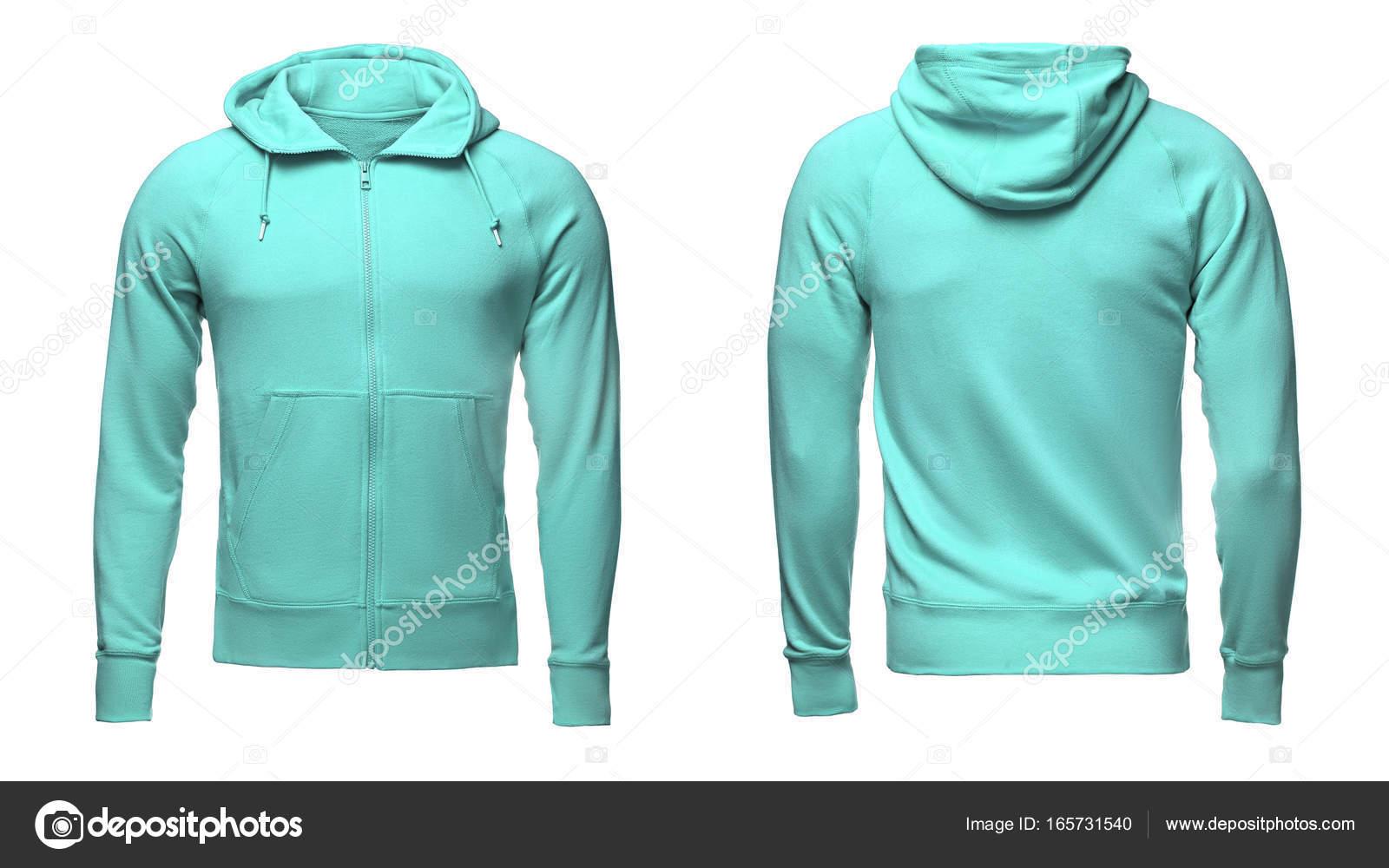 400a9f5f30 Leere Türkis Männer Hoodie Sweatshirt mit Beschneidungspfad, Herren Pullover  für Ihre Design-Modell und