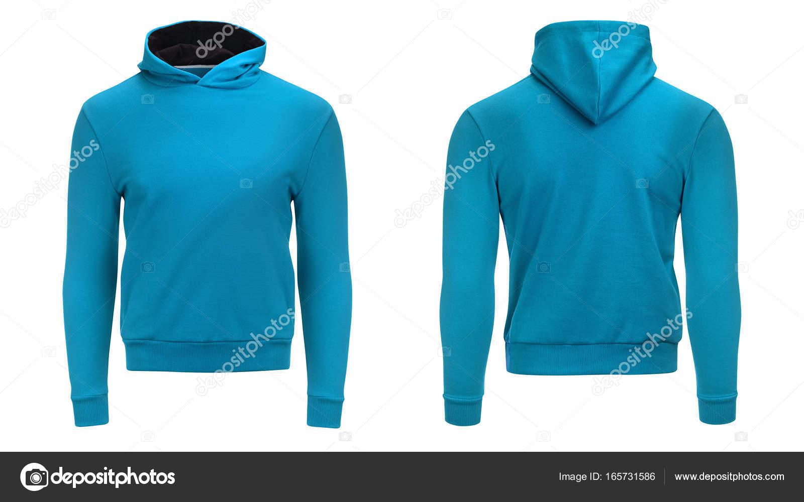 Leere blaue Männer Hoodie Sweatshirt mit Beschneidungspfad, Herren ...
