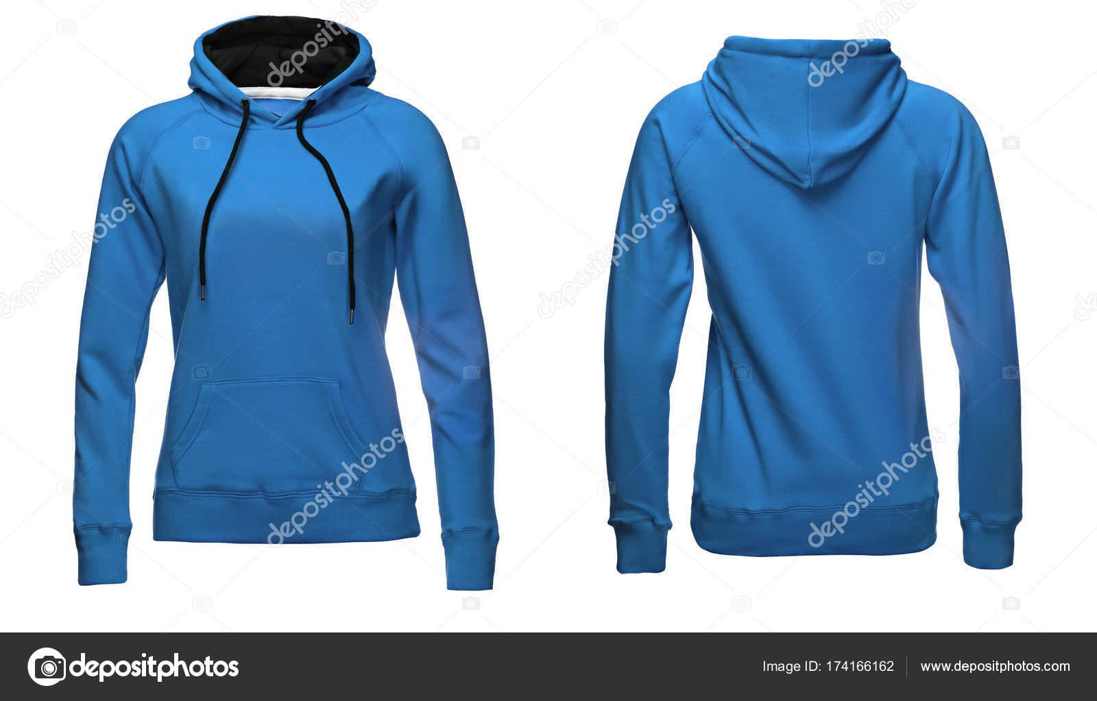 Leere Sweatshirt Vorlage, Vorder- und Rückseite Blick, isoliert auf ...