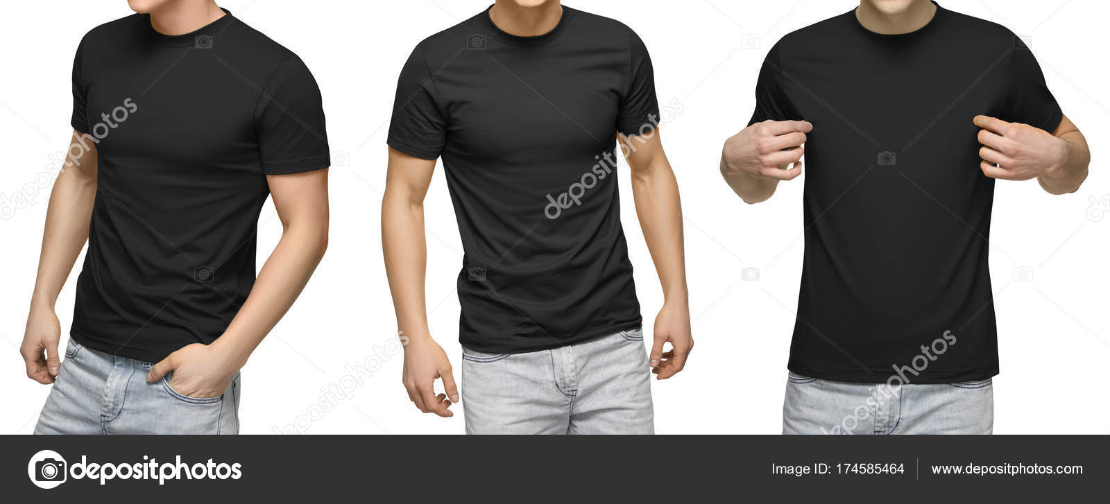 Young male in blank black t shirt front and back view isolated young male in blank black t shirt front and back view isolated white background with clipping path design men tshirt template and mockup for print maxwellsz