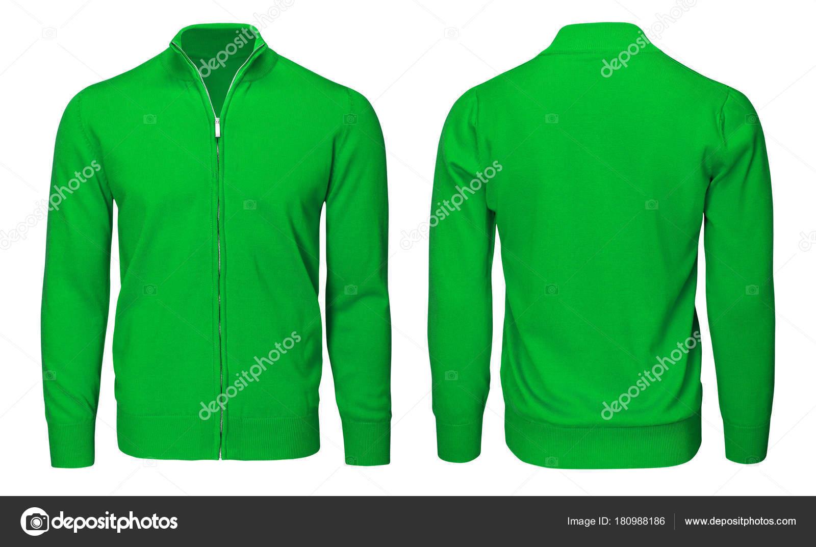 4e8a1c70add Blank template mens green sweatshirt long sleeve