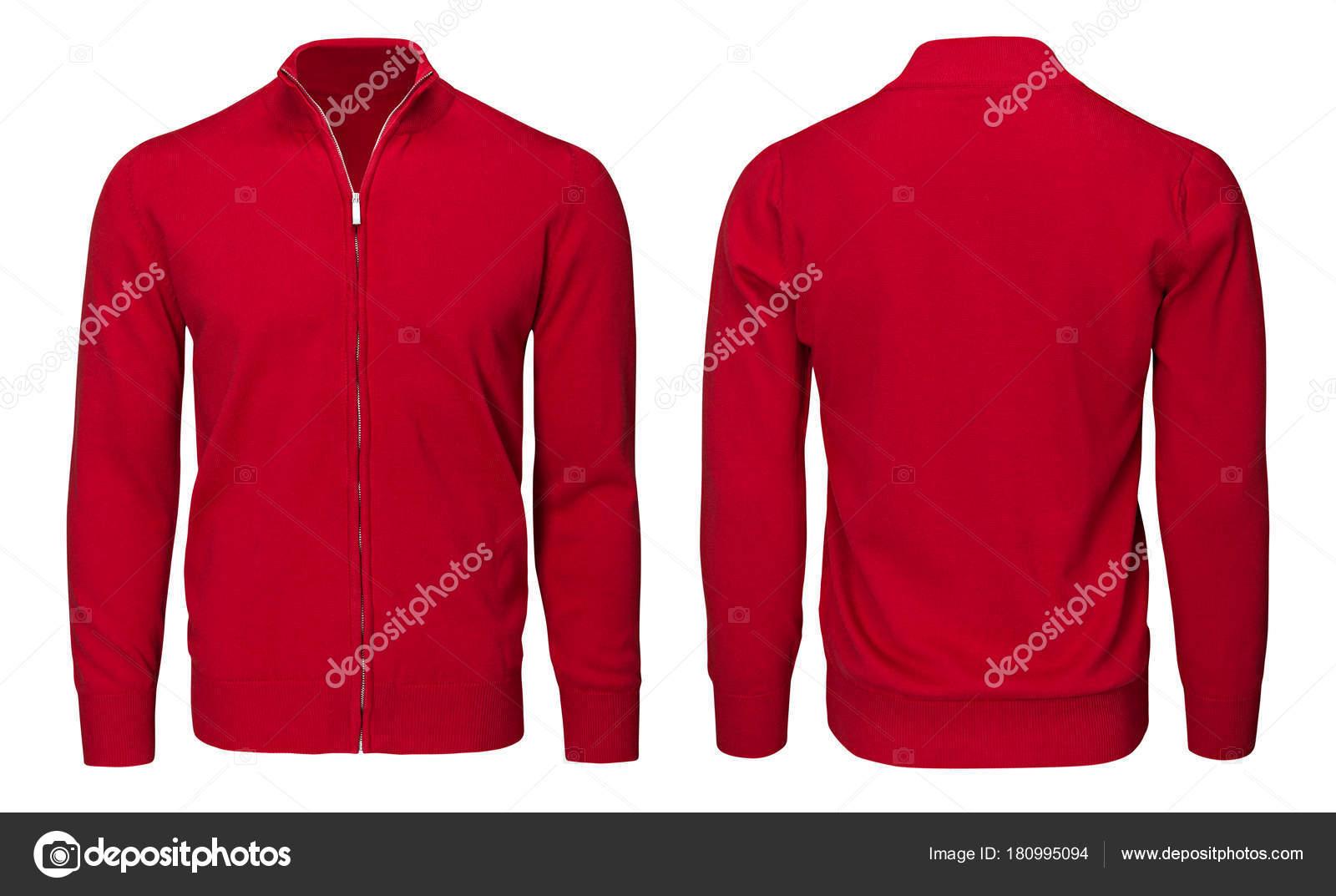278d140a5e0 Blank template mens red sweatshirt long sleeve