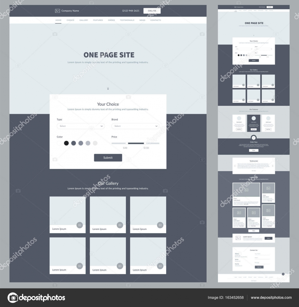 Plantilla de diseño de sitio web de una página para el negocio ...