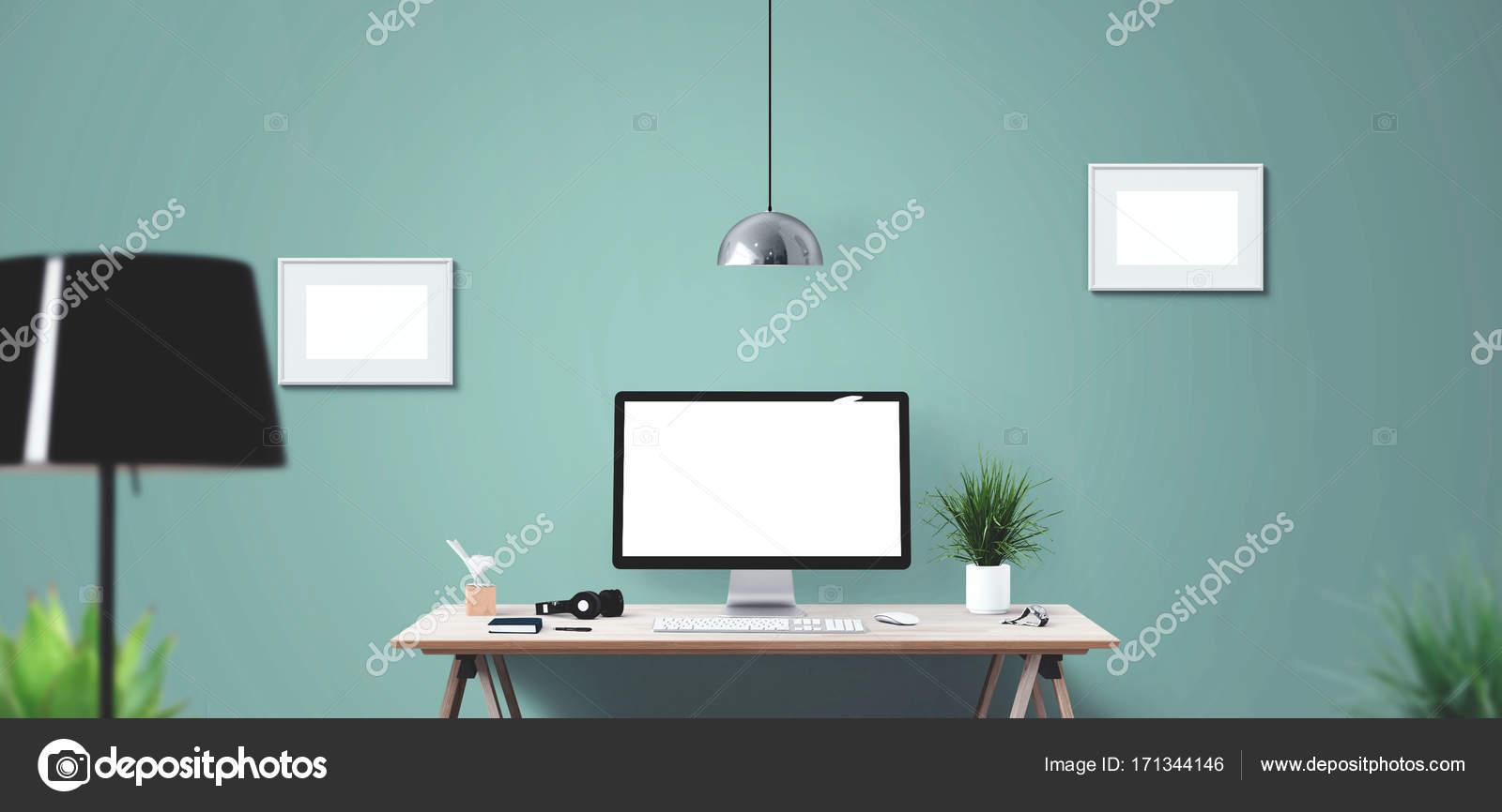 Strumenti Informatici Di Display E Ufficio Sulla Scrivania Schermo