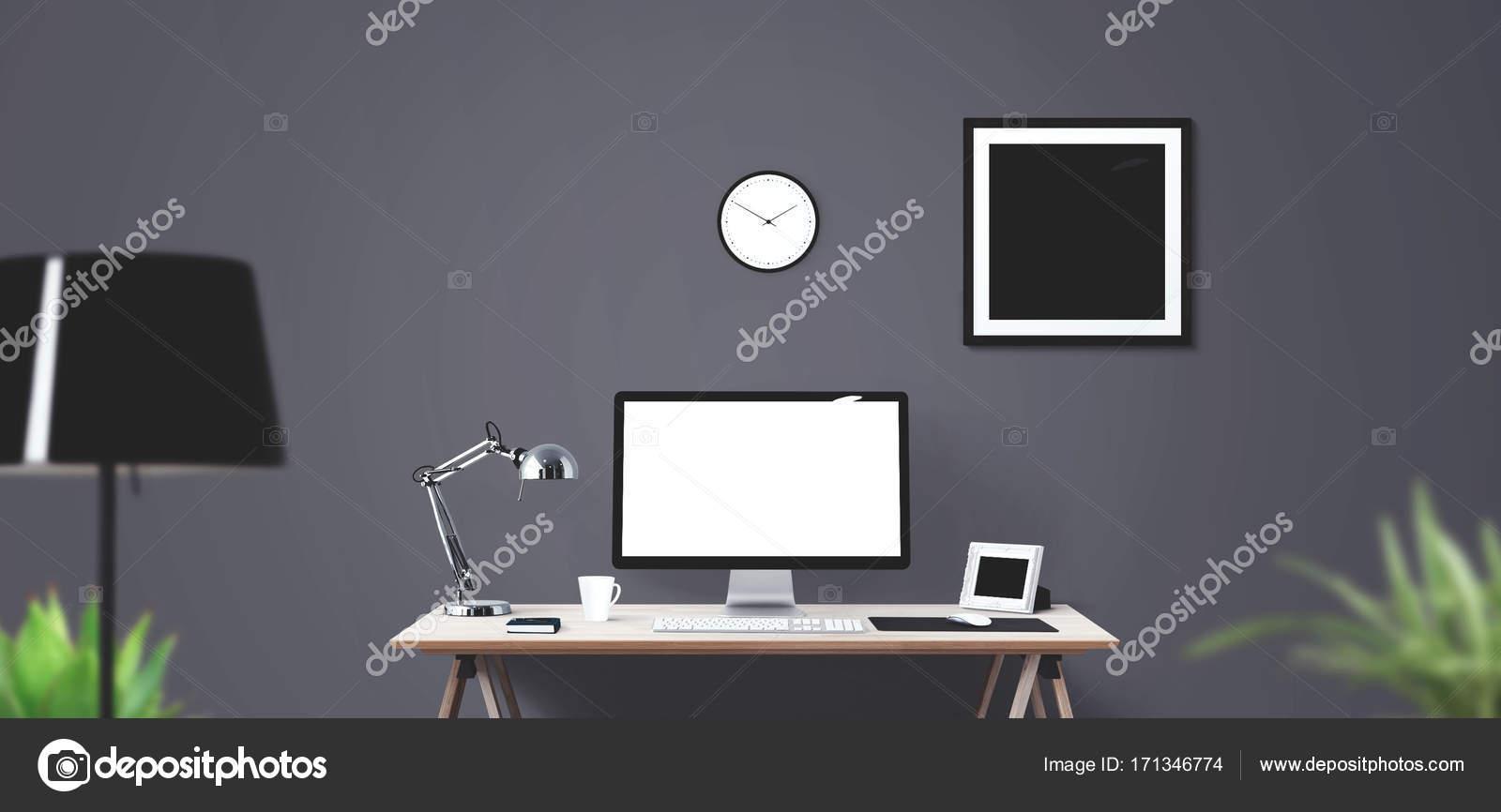 Fond bannière livre affaires horloge ordinateur créative