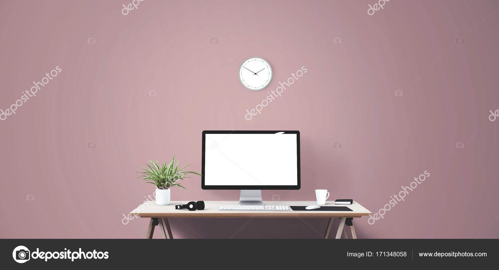 Hintergrund Banner Buch Geschaft Uhr Computer Creative Tasse