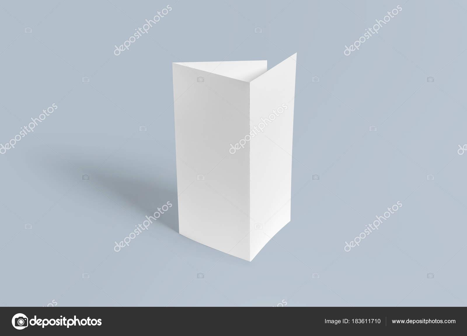 tri fold brochure mock blank brochure white template paper