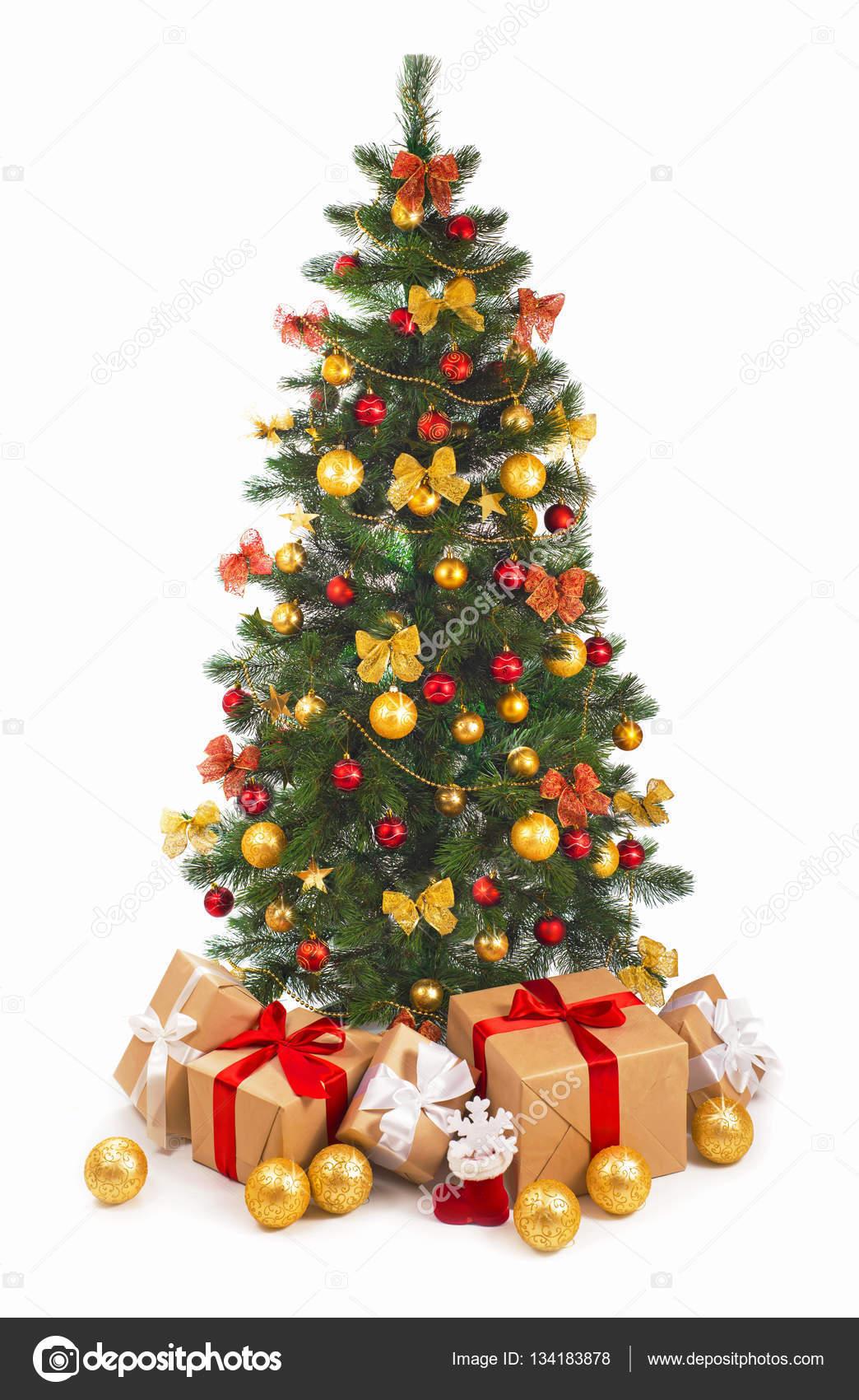 Weihnachten-Szene mit Baum-Geschenke — Stockfoto © aprilphoto #134183878
