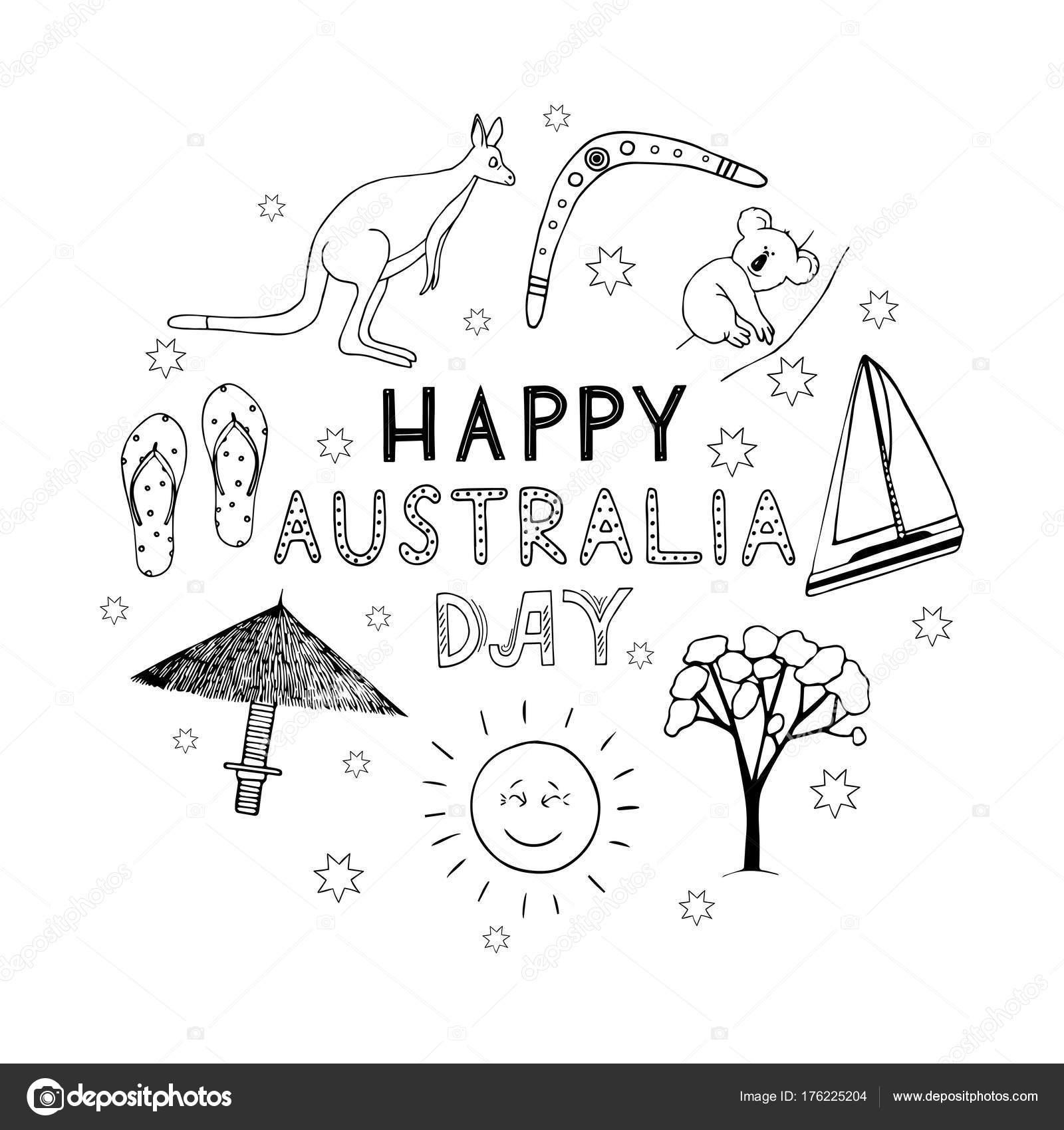 Hermosa Día De Australia Para Colorear Composición - Ideas Para ...