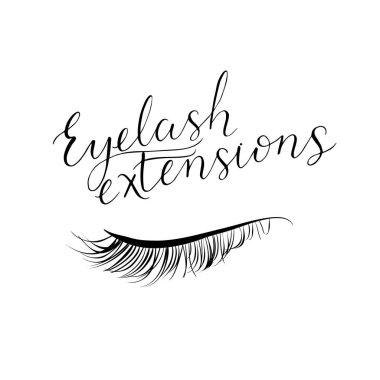 Eyelash extensions modern lettering.