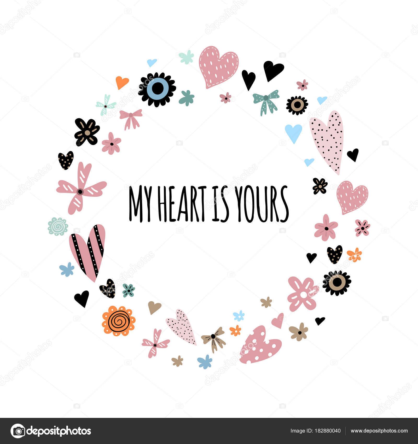 Fotos Frases Con Corazones Y Flores Linda Guirnalda Con