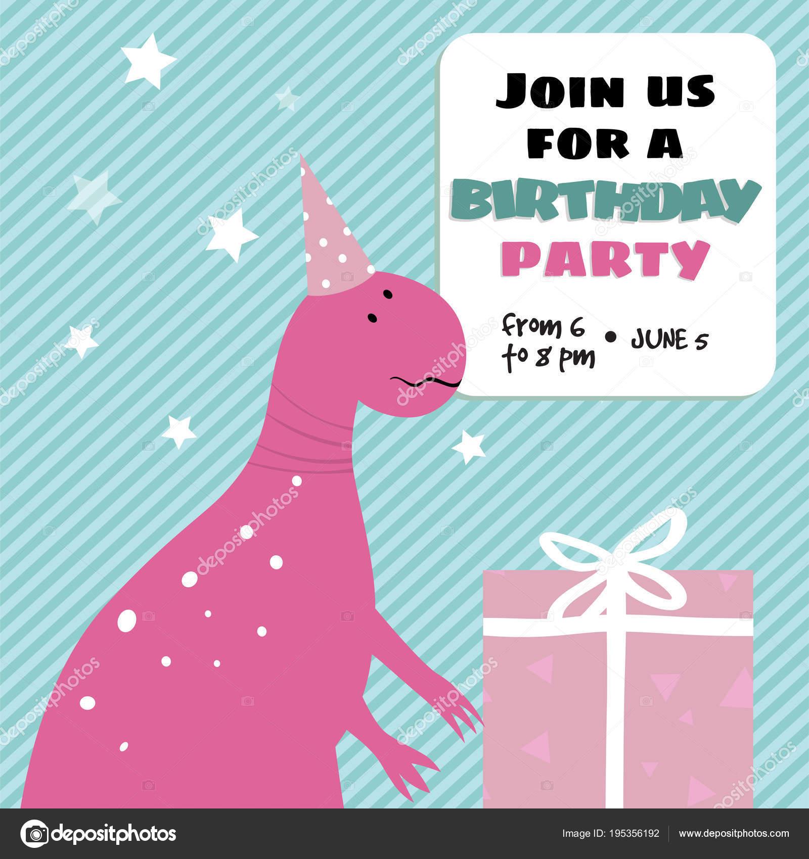 Tarjetas De Invitacion Dinosaurios Para Imprimir Tarjeta