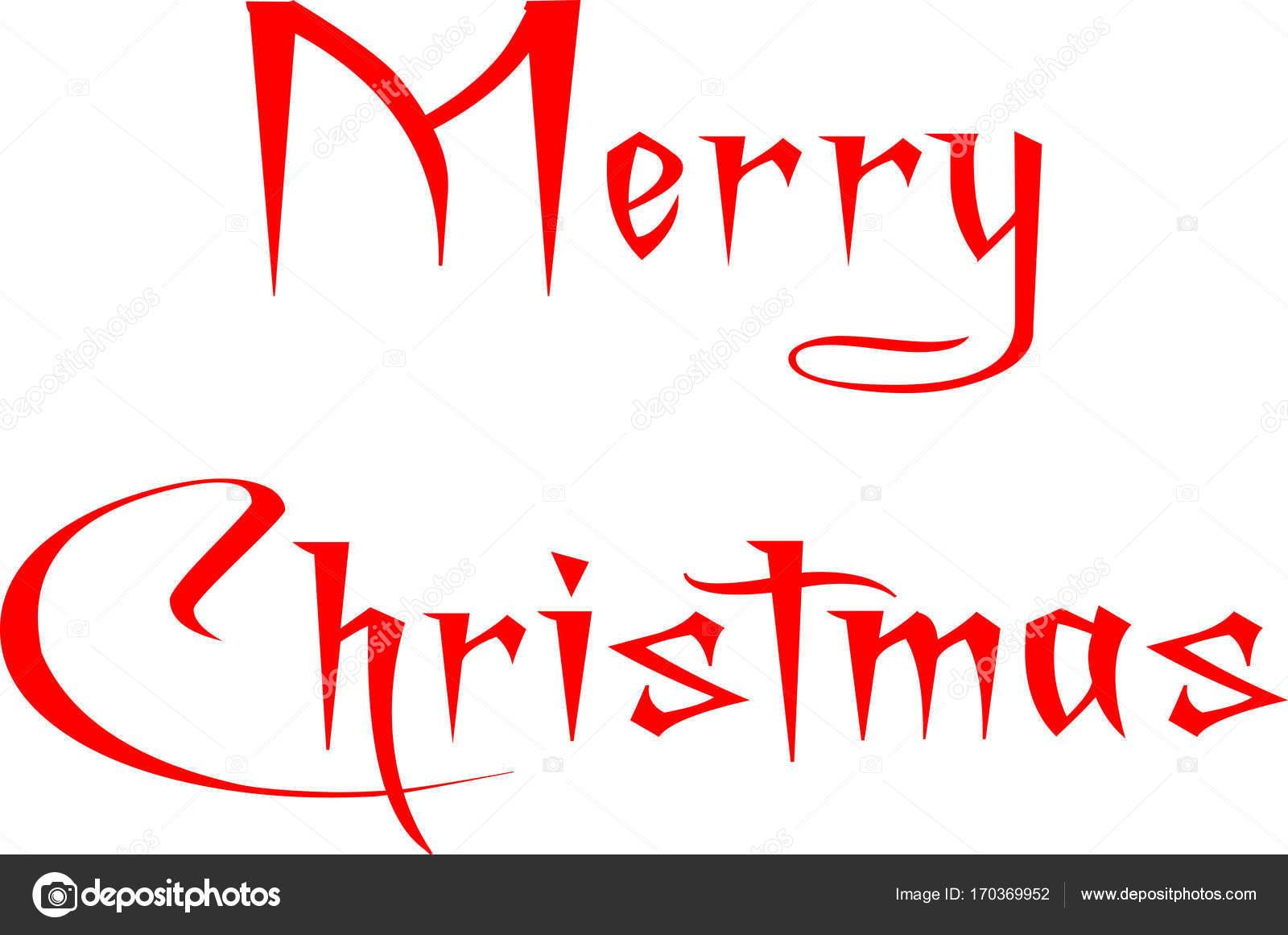 Buon Natale Scritto In Inglese Vettoriali Stock C Morgancapasso