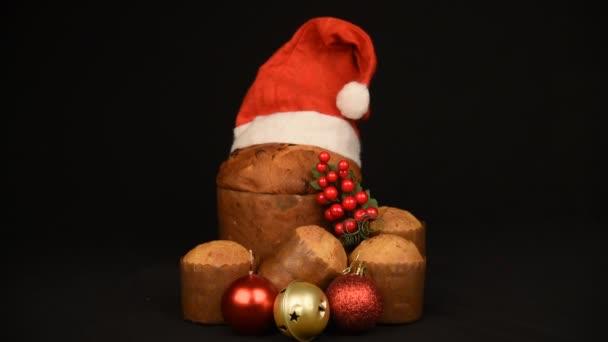 Vánoční jídlo a ozdoby složení zátiší, dovolená období