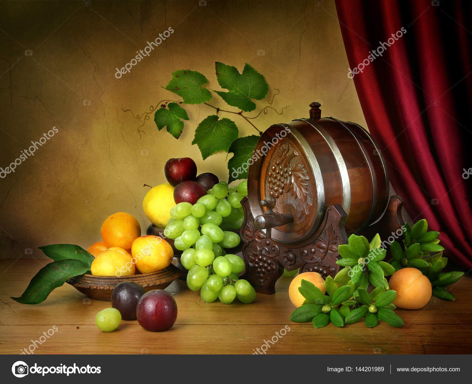 Stillleben Früchte Farben klassischen holländischen Stil der Malerei ...