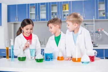 Kids in chemical lab