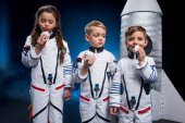 Fotografie Kinder in Astronaut Kostüme
