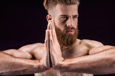 Man with namaste gesture