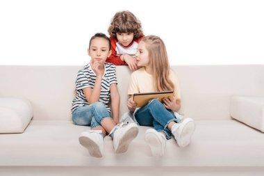 Kids using digital tablet
