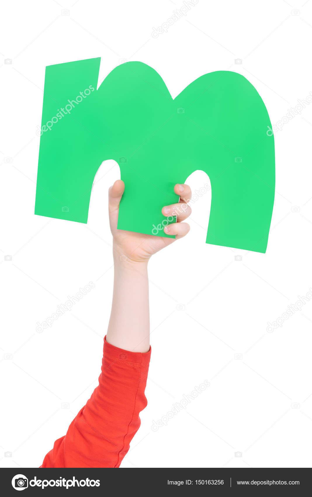 Alphabet Letter In Child Hand Stock Photo Natashafedorova 150163256