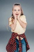 Fotografie Niedliche Mädchen in Freizeitkleidung