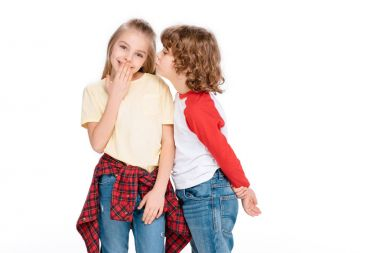 Two young friends communicating