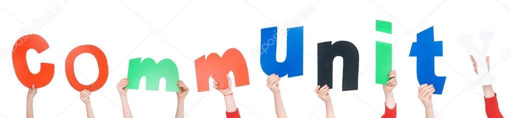 Kids holding alphabet letters