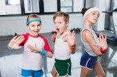 Aktive Kinder in Sportbekleidung