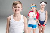 Photo Active kids in sportswear